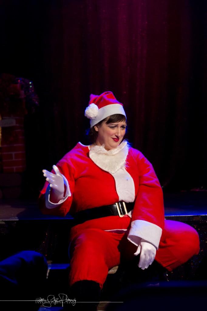 Momo is one grouchy, boozy Santa!
