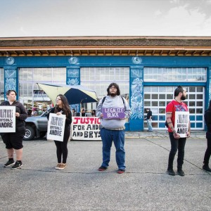 Justice for Bryson and Andre, demonstration in Olympia, WA | photo by Heather Schofner